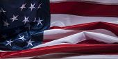 American Flag close up section for background.