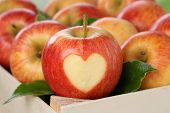 Apple With Heart Love Topic