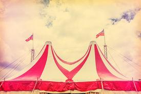 image of circus tent  - Circus tent and sky - JPG