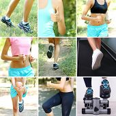 Sport collage. Running