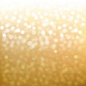 Golden Bokeh With Gradient Mesh, Vector Illustration
