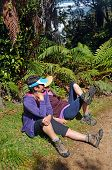 Hikers Rest At The Side Of Heaphy Track, New Zealand