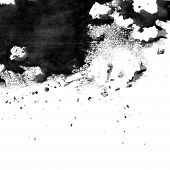 Black ink texture with blobs and splotches