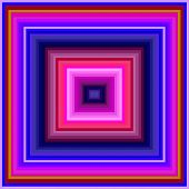 foto of hypnotizing  - An hypnotic vintage colored squares background pattern - JPG