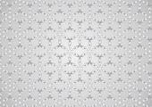 Silver Modern Sweet Blossom Pattern On Pastel Background