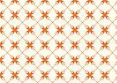 Orange Sweet Bloom In Abstract Shape Pattern On Pastel Background