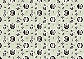 Brown Abstract Circle Pattern On Pastel Background