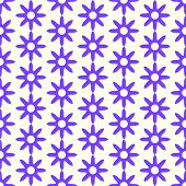 Purple Retro Dry Flower Pattern On Pastel Color