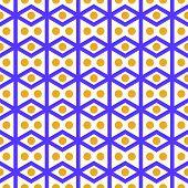 image of parallelogram  - Violet rhombohedron or parallelogram pattern on pastel background - JPG