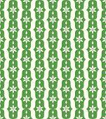 Green Classic Flower And Lobe Seamless Pattern