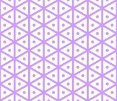 picture of hexagon pattern  - Purple sweet and vintage hexagon and circle seamless pattern on pastel background - JPG