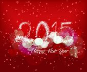 Happy new year with light background