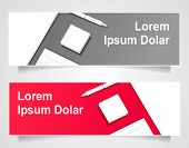 Banners with office object for  business