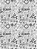 School Elements Doodles Hand Drawn Line Icon, Eps10