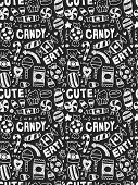 Candy Elements Doodles Hand Drawn Line Icon, Eps10