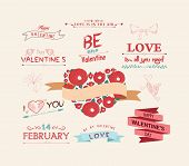 set of icons for Valentines day, Mothers day, wedding, love and romantic events
