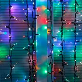 Outdoor Christmas Lamp Strings Decorate Window
