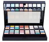 Open Case With Makeup Kits Isolated