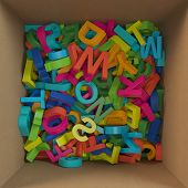 Box Filled With Colored Letters