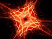 Red Fiery Mesh