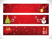 Abstract Christmas Web Banner Template