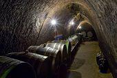 wine cellar Chvalovice Czech Republic