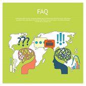 FAQ information sign icon