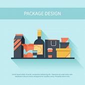 Package design in flat style
