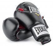 Ankara, Turkey - November 25, 2014: Everlast gloves isolated on white background.