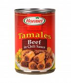 Los Angeles,California Dec 9th 2014: Nice Isolated image Of a can of Hormel Beef tamales