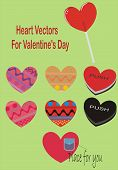 Heart Vectors for Valentine's Day