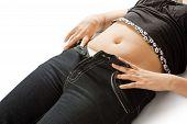 Female fatty stomach  body