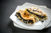Crepes With Black Caviar