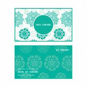 Vector abstract green decorative circles stars striped vertical round frame pattern business cards s