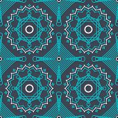 abstract vector seamless pattern with graceful lace lineart ornament
