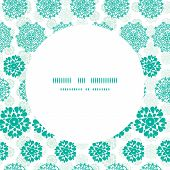 Vector abstract green decorative circles stars striped frame seamless pattern background