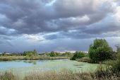 summer landscape before the storm