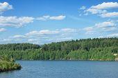 beautiful lake, summer landscape