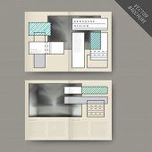 Elegant Half-fold Brochure Template Set