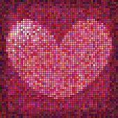 Valentines Day Colourful  Heart