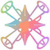 Pen Loudspeaker Symbol Colorful Background