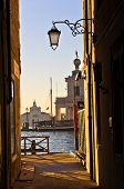 picture of academia  - Sunrise in Venice at canal near Academia bridge - JPG