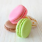 French Macaroons dessert