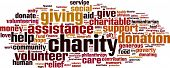 foto of word charity  - Charity word cloud concept - JPG