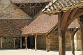 Courtyard In Medieval Castle poster
