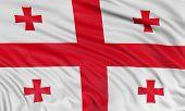 3D Georgian flag
