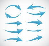 Arrow Icon Sign. Vector Illustration.