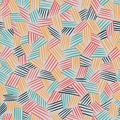 Vector Seamless Pattern With Interweaving Of Lines.