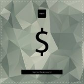 Dollar polygonal background.