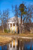 Friendship Temple. Round Pavilion In Pavlovsk Park